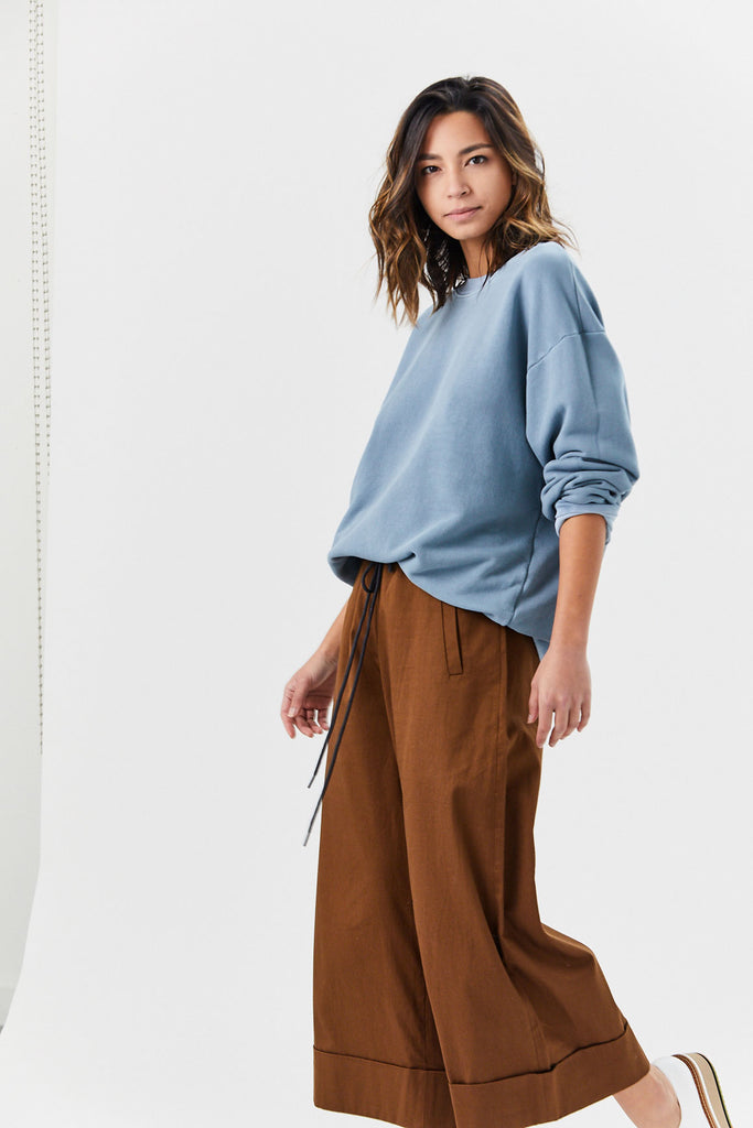 COTTON CITIZEN - Brooklyn Oversized Sweatshirt, Desert Sky