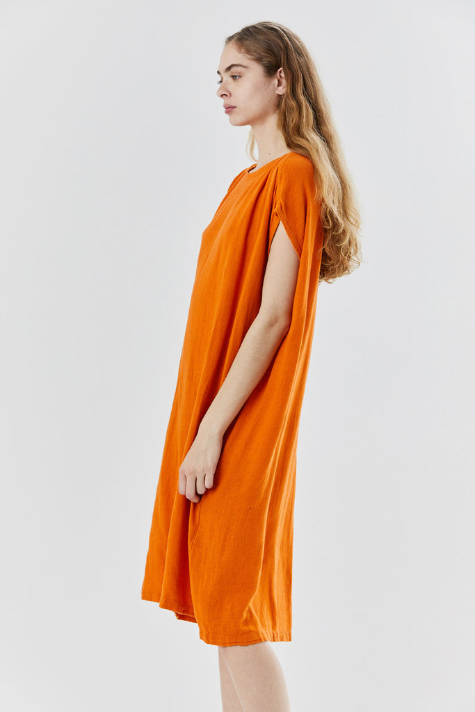Black Crane - box dress, orange
