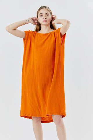 box dress, orange