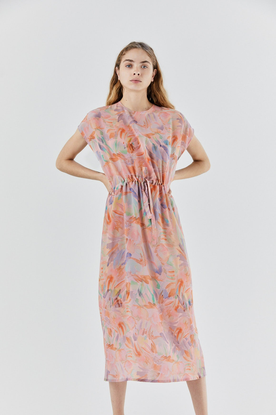 ANNTIAN - simple dress, pink