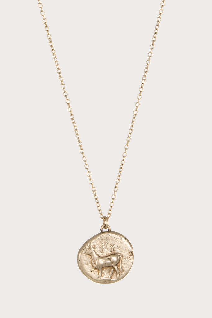 Kathryn Bentley - Stag Pendant - Gold