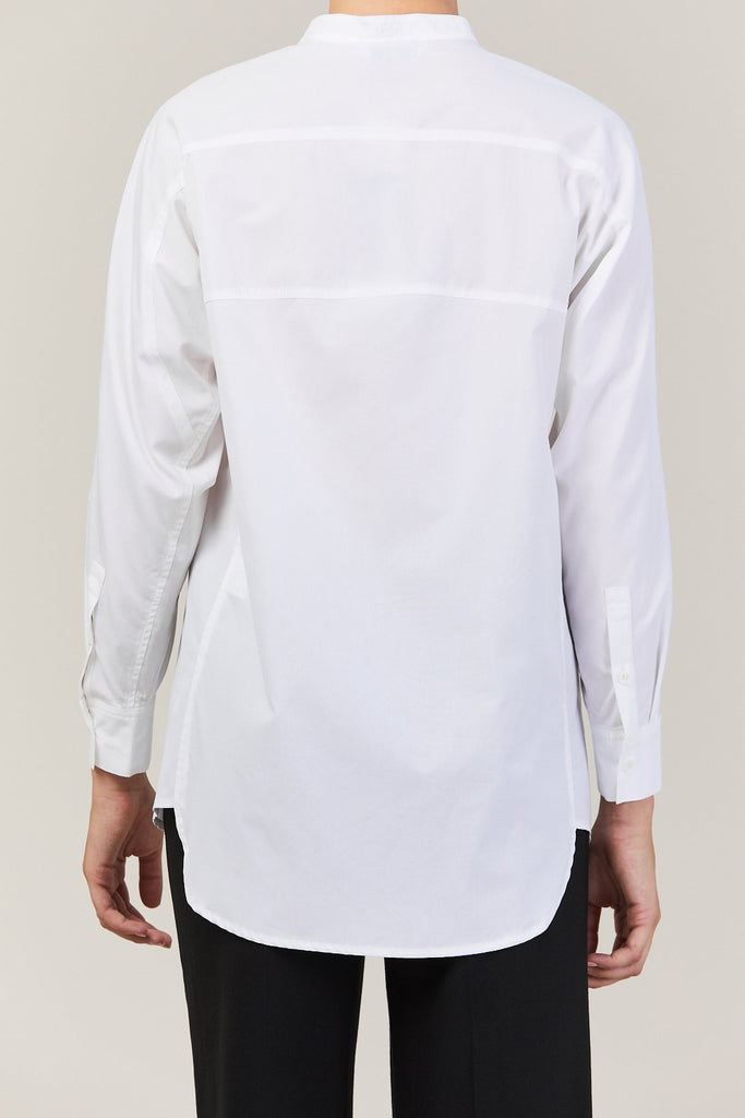 Demoo - Band Collar Shirt, White