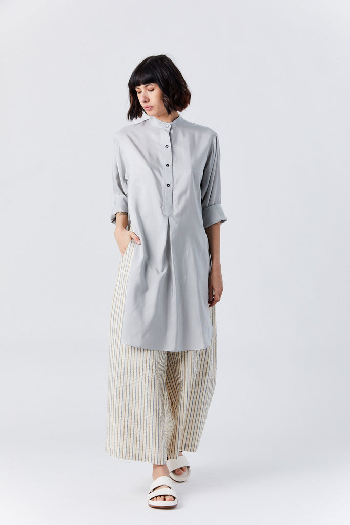 Long Shirt, Grey Stripe