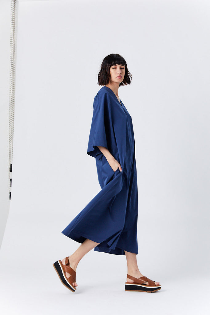 Long Tunic Jumpsuit, Blue