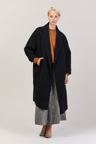 Oversized Double Coat, Black