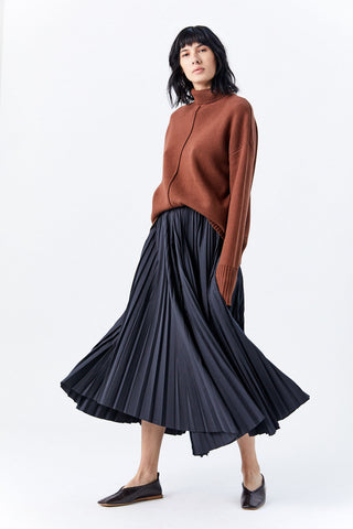 Pleated Pants, Slate Grey