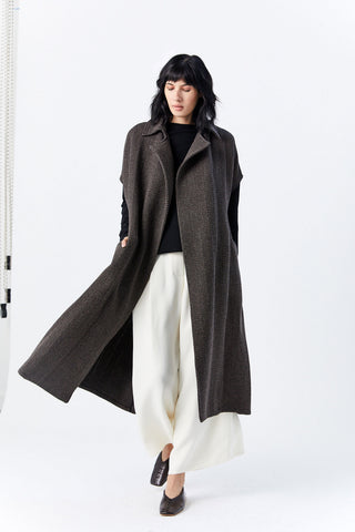 Sleeveless Trench, Brown
