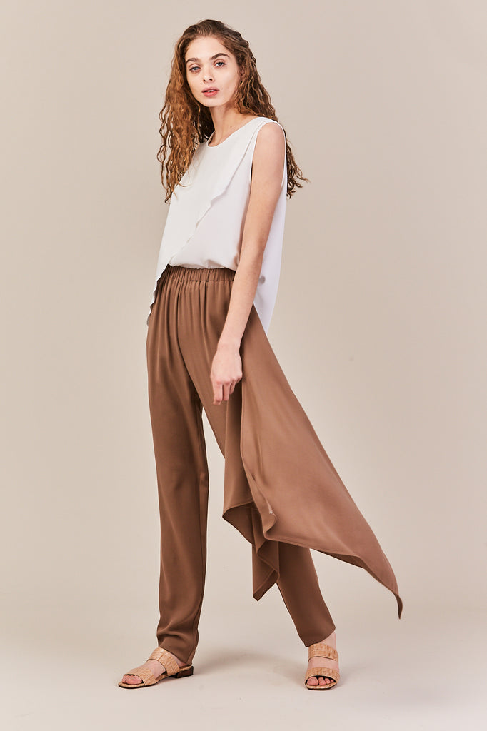 Wrap Pants, Brown