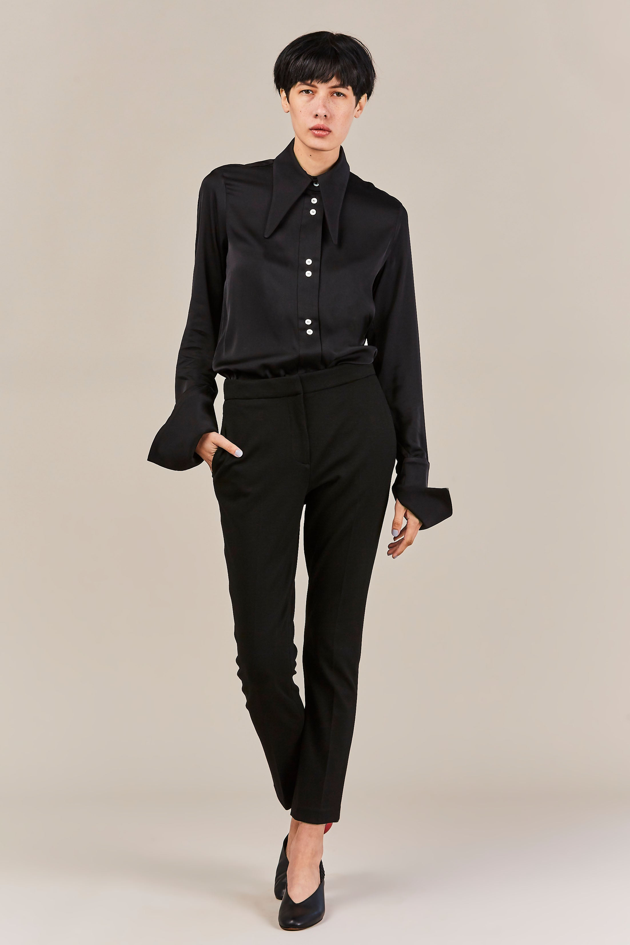 Ellery - Puppy Love Blouse, Black