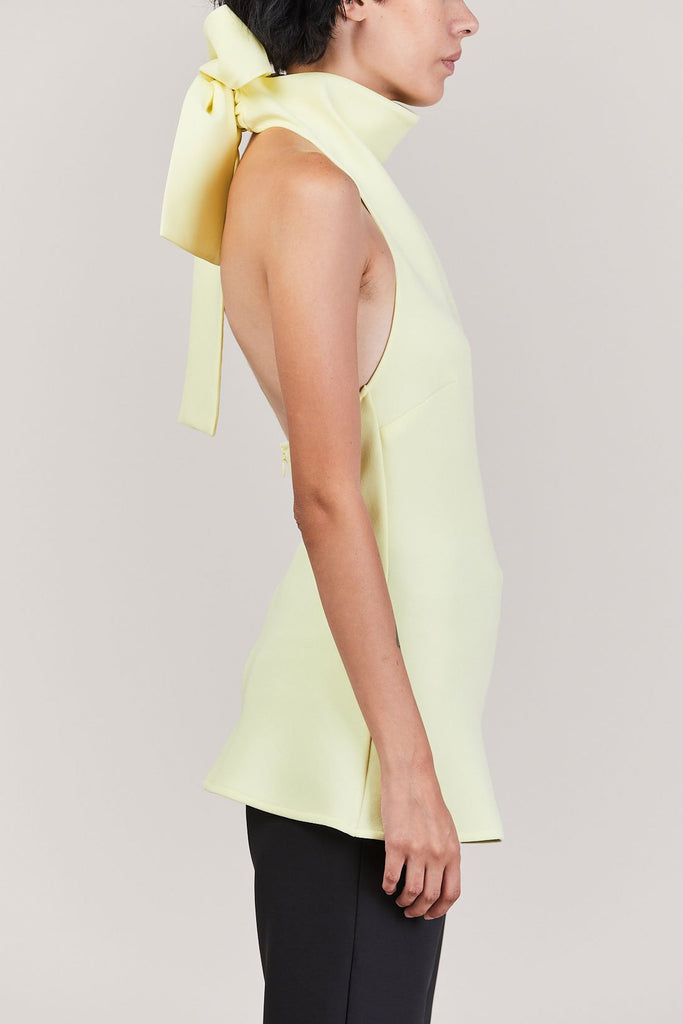 Ellery - Limoges Halter Neck Top, Lemon