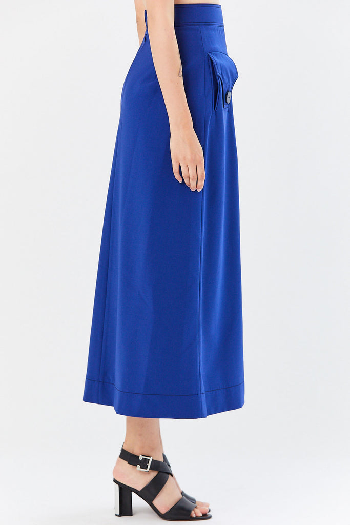 Ellery - Godfrey A-Line Skirt, Blue