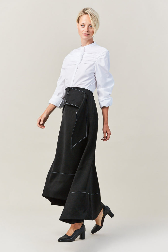 Yale Fluted Skirt with Overlay