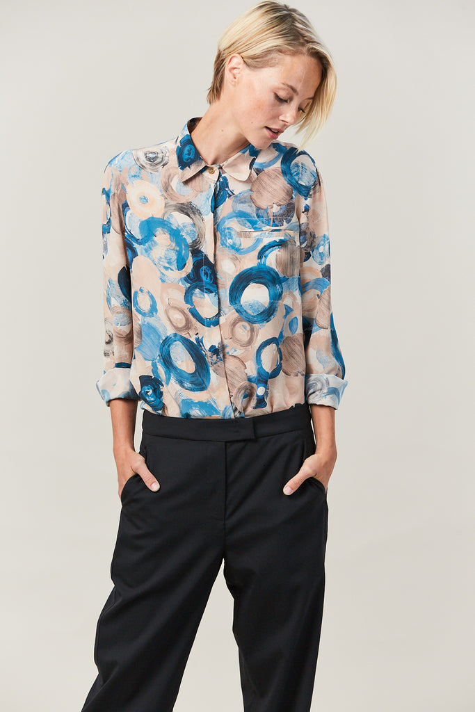 BILLY print button up