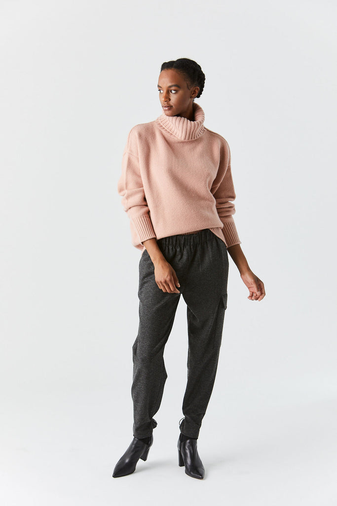 Oversize Turtleneck, Pink