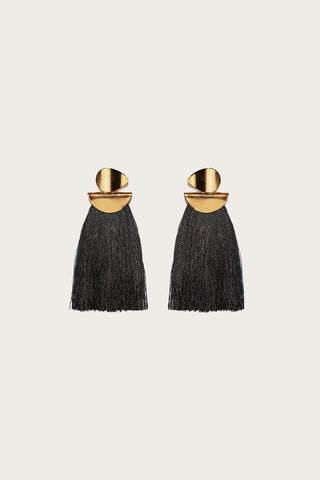 Crater Earrings, Black