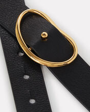 Lizzie Fortunato - wide georgia belt, black