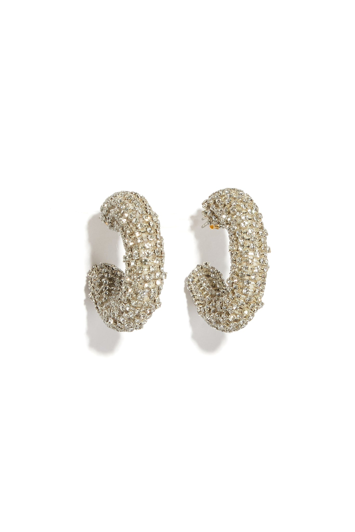 Lizzie Fortunato - mirror hoop earrings, silver