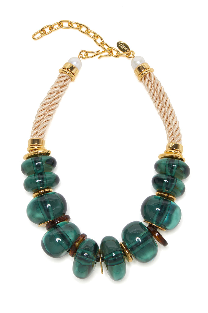 Lizzie Fortunato - botero necklace, forest