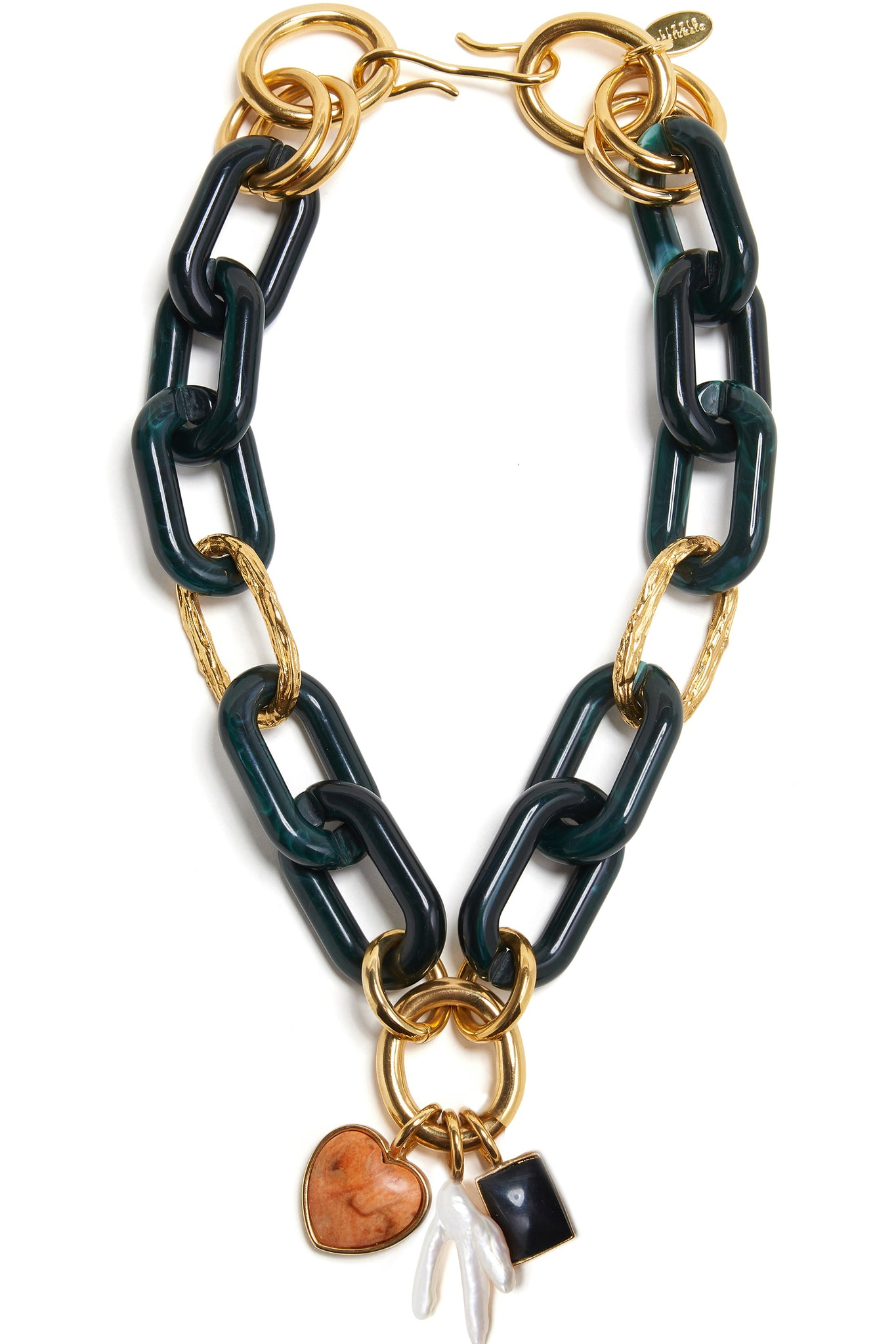 Lizzie Fortunato - linked necklace, forest