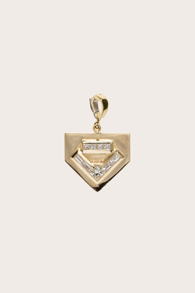 Glow Diamond Charm, Gold