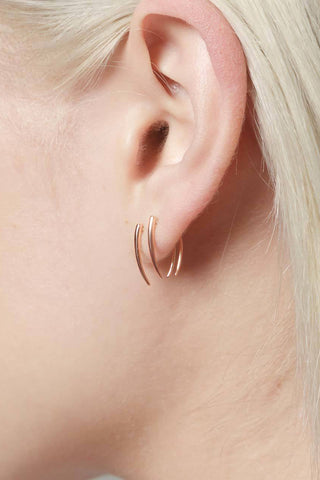 Classic Infinite Tusk Earrings, Rose Gold