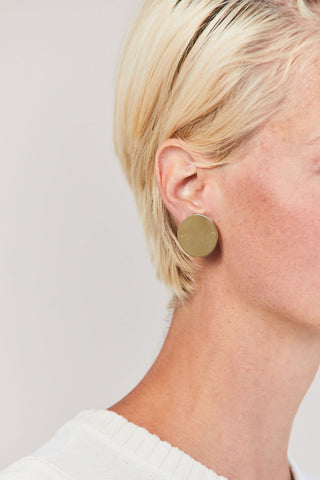 20mm Disc Earrings, Gold