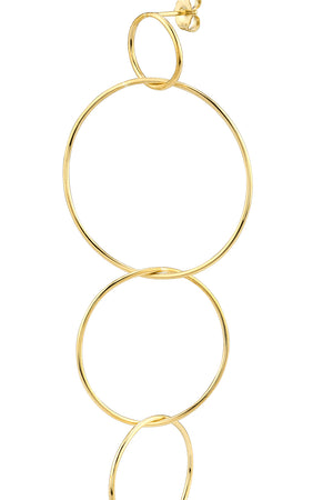 Gabriela Artigas - disc chain earring, gold