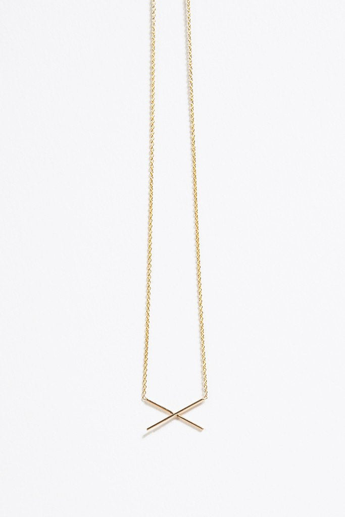Gabriela Artigas - X Necklace, Gold