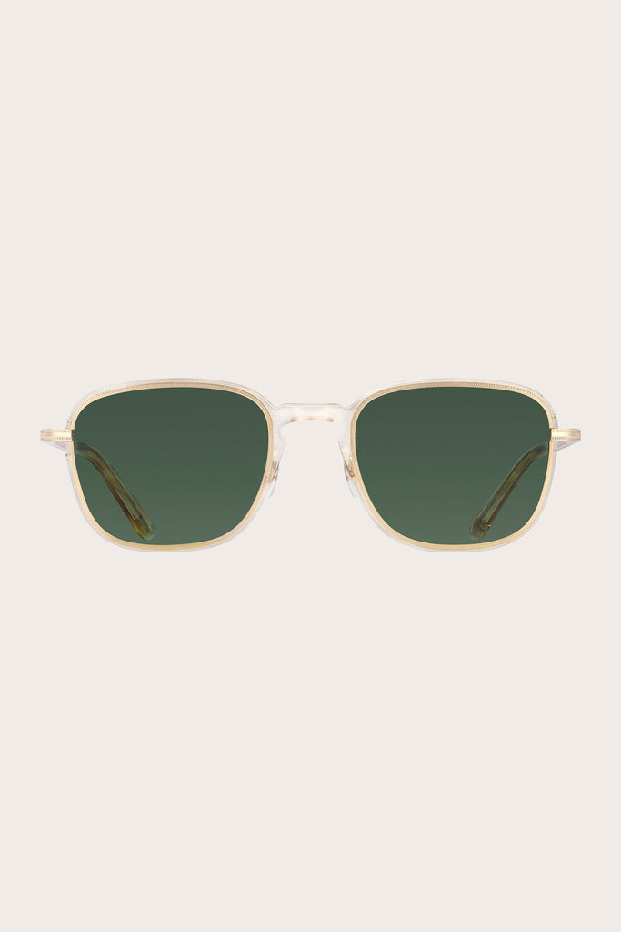 Garrett Leight - Pier Sun, Champagne-Gold with Semi-Flat Pure Green