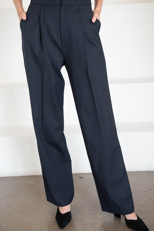 GAUCHERE - ranha pant, dark blue