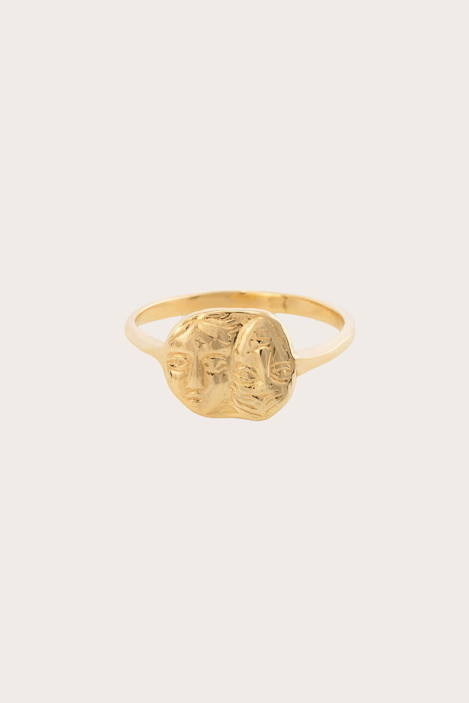 Kathryn Bentley - Gemini Coin Ring, Gold