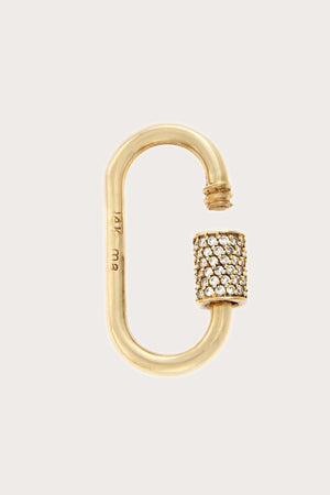 Marla Aaron - Medium Stoned Lock with Diamonds, Gold