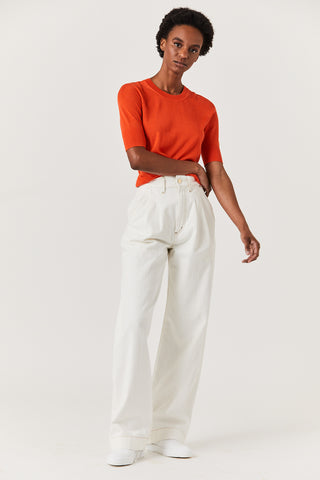 The Trouser, White