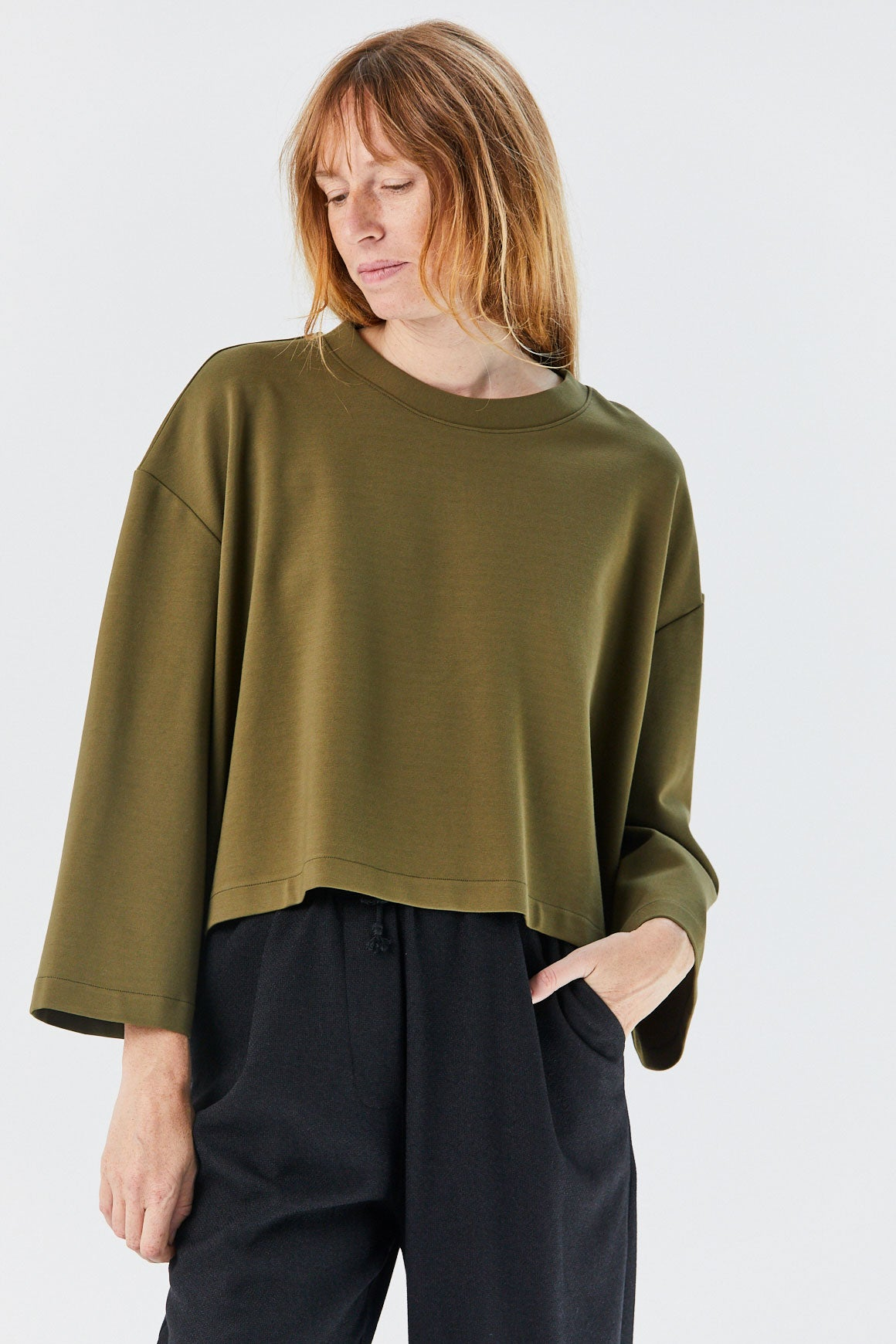 GREI - Long Sleeve Oversize Tee, Army