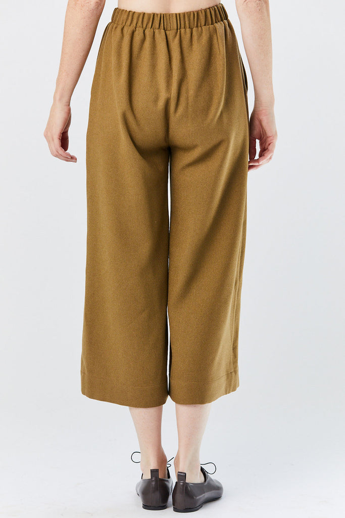 GREI - Wide Crop Pant, Patina