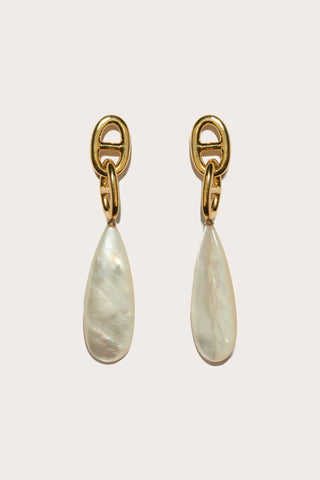 Grotto Drop Earrings, Pearl