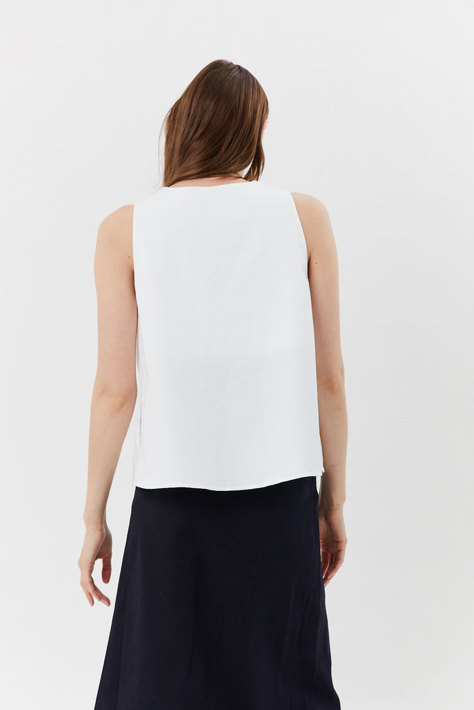 HACHE - Hache Tank Top, White