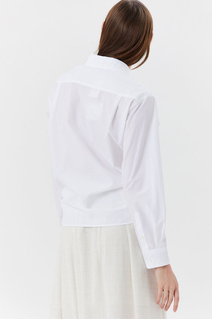 HACHE - Hache Tie Button Down Shirt, White