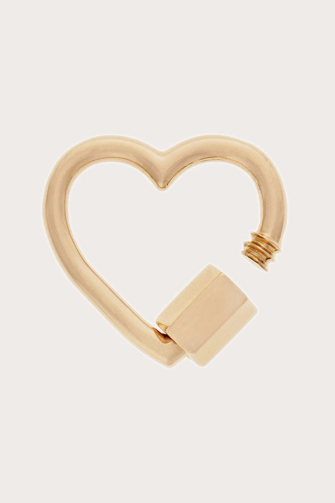 Marla Aaron - Heart Lock, Yellow Gold