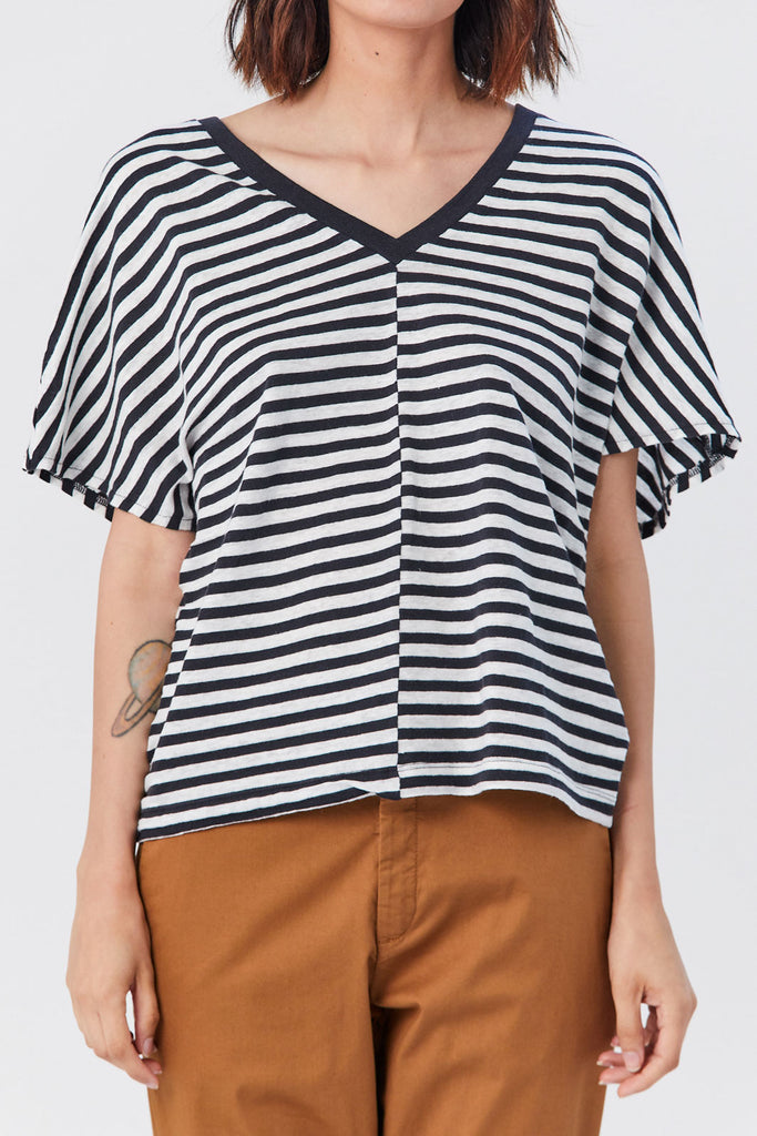 Hope - Drop Top T-Shirt, Black Stripe