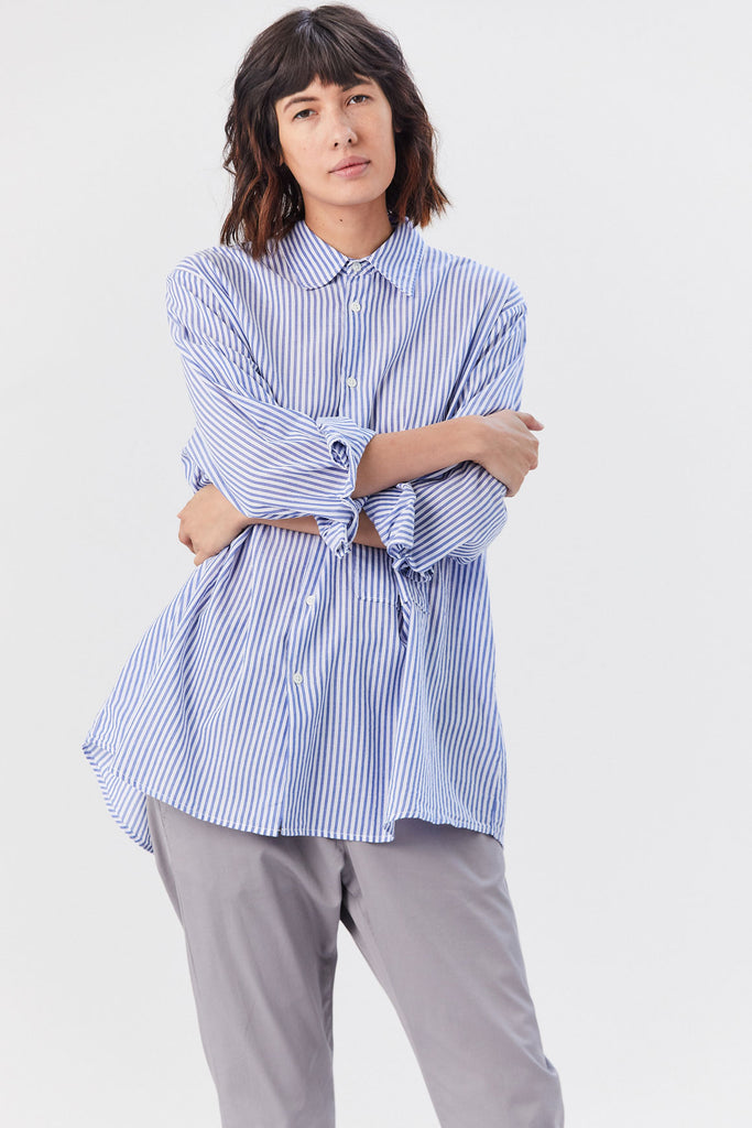 Hope - Elma Shirt, Blue Stripe