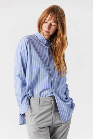 Elma Shirt, Grey Stripe
