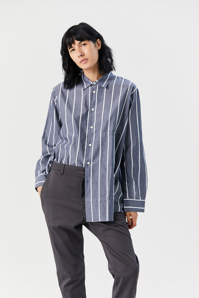 Elma Shirt, Dark Navy Stripe