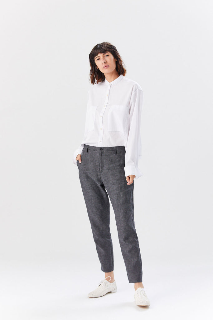 Krissy Trouser, Dark Grey Dogtooth