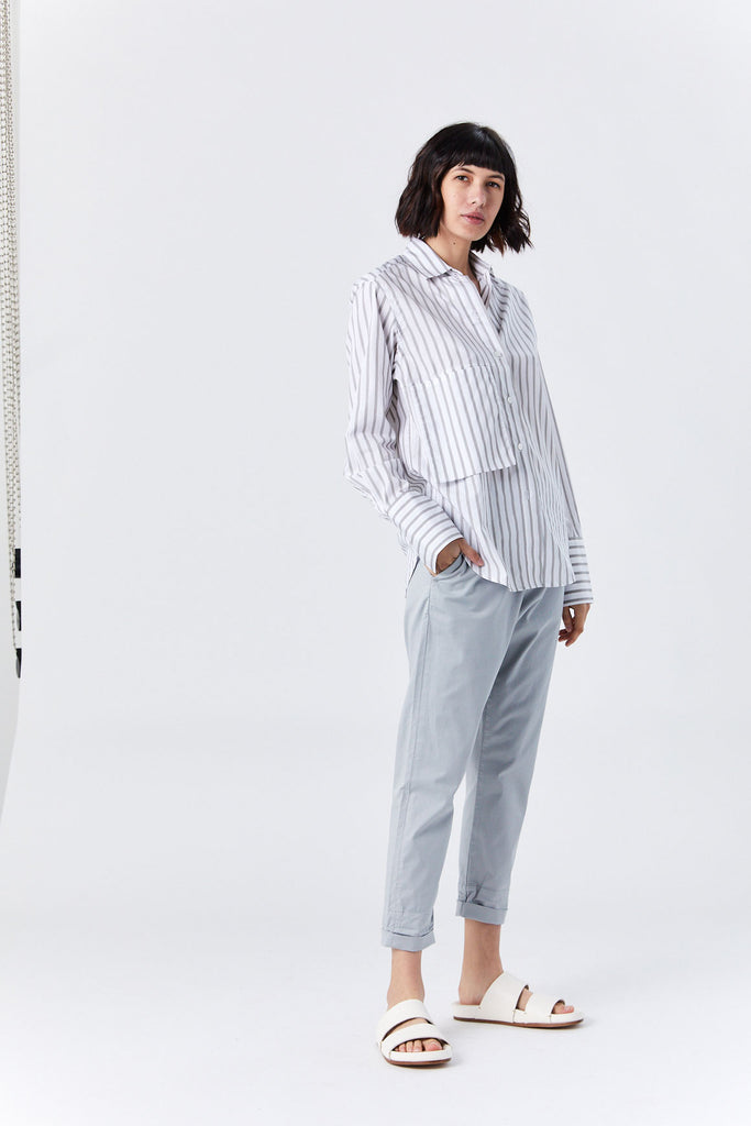 News Trouser, Pale Blue