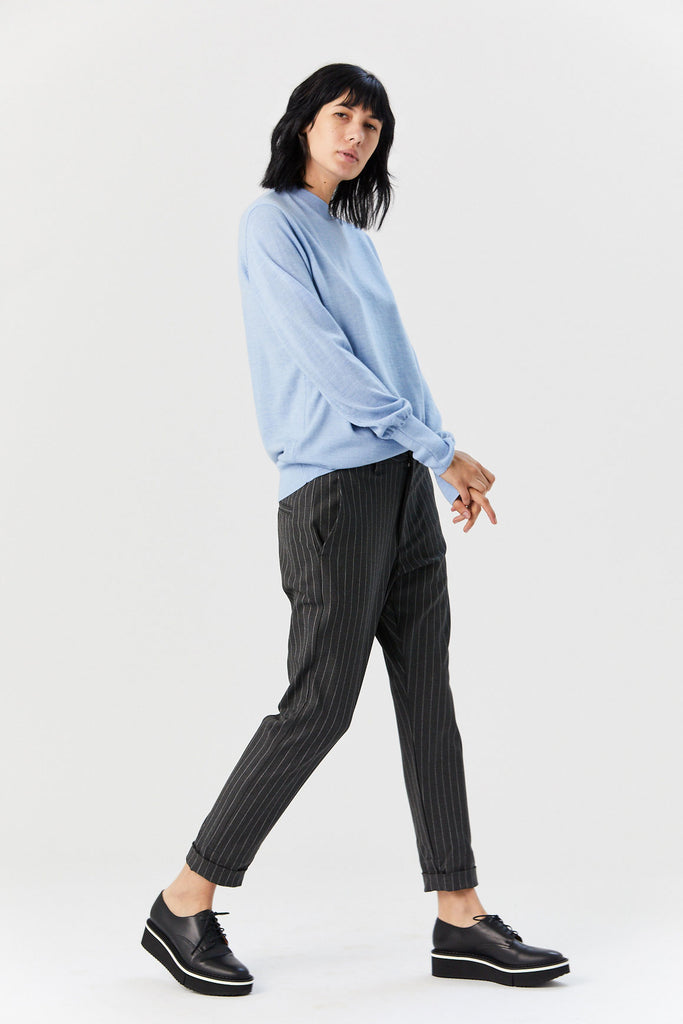 News Trouser, Grey Stripe
