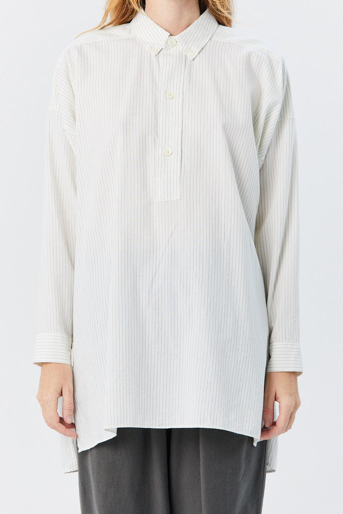 HOPE - Pitch Shirt, Off White Pinstripe