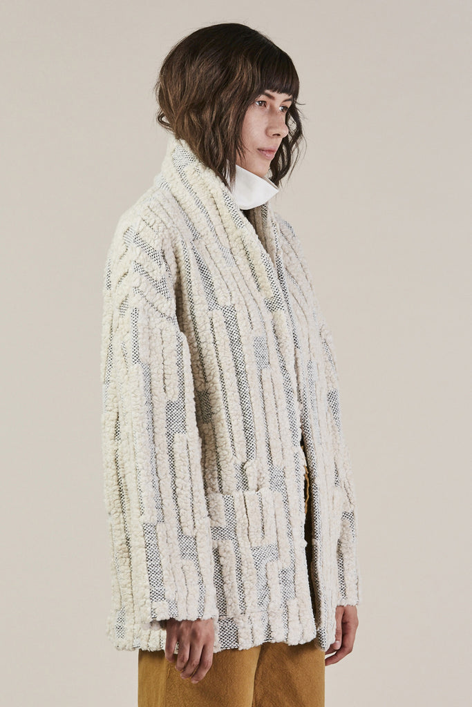 Patch Pocket Jacket, Grey/Cream by Horses Atelier @ Kick Pleat - 3