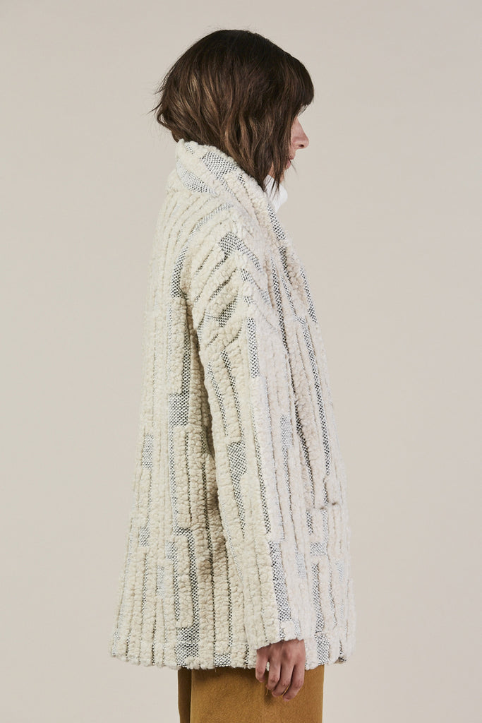 Patch Pocket Jacket, Grey/Cream by Horses Atelier @ Kick Pleat - 4