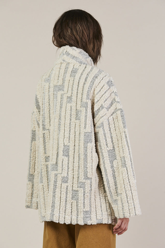Patch Pocket Jacket, Grey/Cream by Horses Atelier @ Kick Pleat - 5